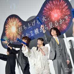 左から:岩井俊二氏、宮野真守、広瀬すず、菅田将暉、DAOKO (C)モデルプレス