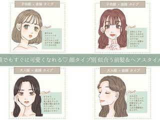 【4つの顔タイプ別】おすすめ前髪&ヘアスタイル 誰でも今すぐ可愛くなれる♡