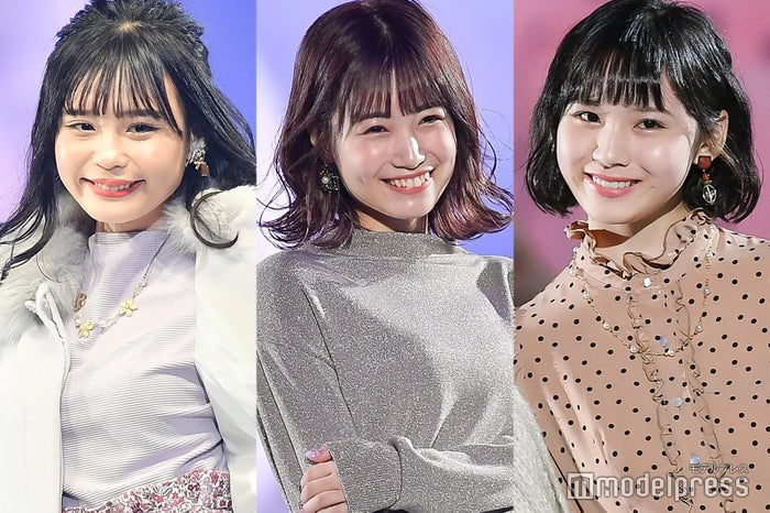 左から:村川緋杏、朝長美桜、荒巻美咲 (C)モデルプレス