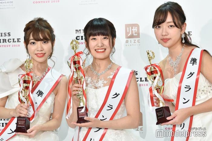 準グランプリ・大間知莉奈さん、グランプリ・平館真生さん、準グランプリ・五十嵐瑞姫さん<br>