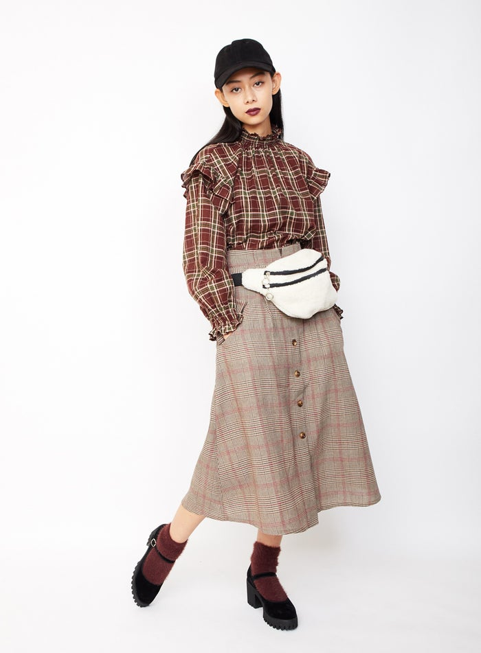 チェックオンチェック/衣装協力:WEGO