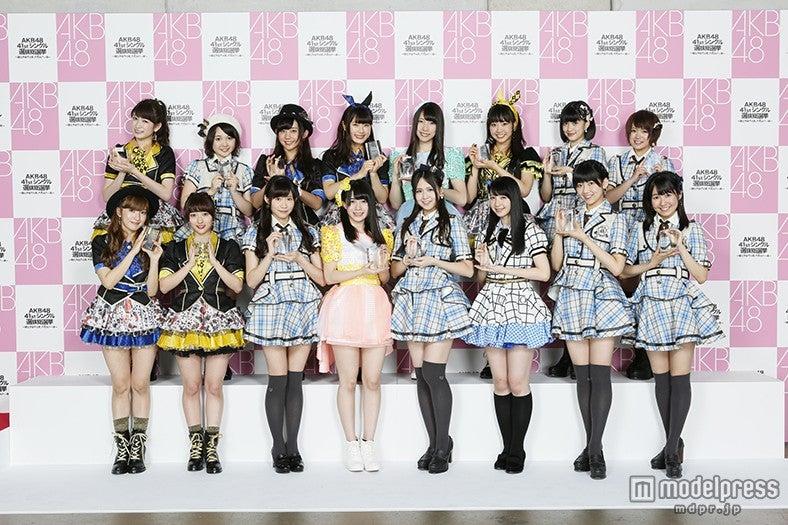 「第7回AKB48選抜総選挙」にて49~64位「フューチャーガールズ」入りを果たしたメンバー(C)AKS【モデルプレス】