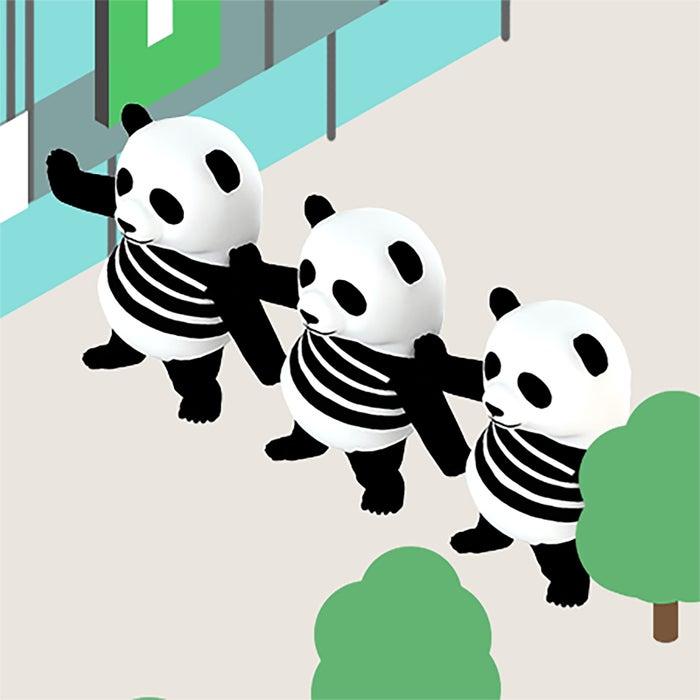 おそろパンダ(提供画像)