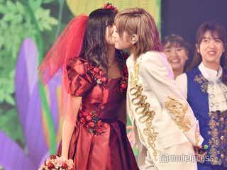 """AKB48岡田奈々、男装で村山彩希とキス・""""結婚式""""…<ゆうなぁ単独コンサートライブレポ・セットリスト>"""