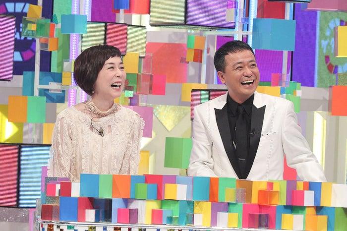 大下容子アナ、中山秀征 (画像提供:テレビ朝日)