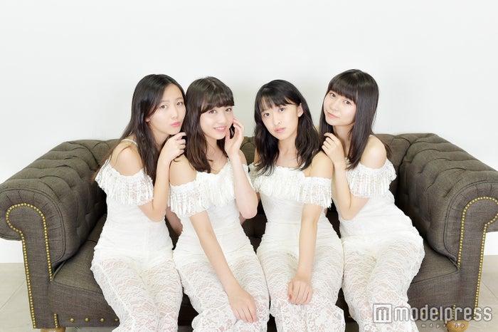 東京女子流(左から)山邊未夢、新井ひとみ、中江友梨、庄司芽生(C)モデルプレス