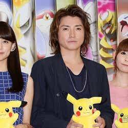 (左から)山本美月、藤原竜也、中川翔子