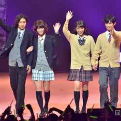 左から:山崎賢人、坂田梨香子、広瀬アリス、千葉雄大