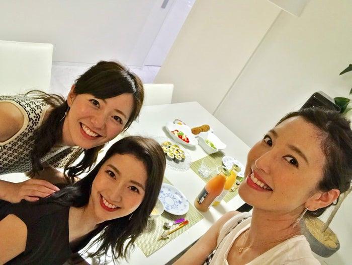 三田家で三田友梨佳アナの手料理を頂きました♡すべて美味しかったです♡/内田嶺衣奈アナウンサー(提供写真)