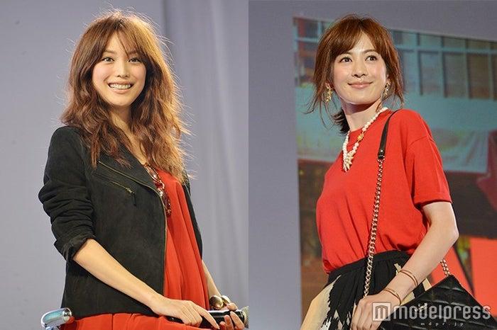 「AneCan」卒業を発表した蛯原友里(左)&高垣麗子(C)モデルプレス