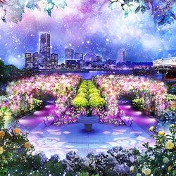 横浜・山下公園で初イルミイベント「SNOW ROSE GARDEN YOKOHAMA」開催