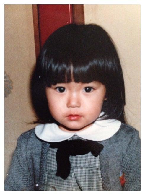 2歳の頃の矢田亜希子/矢田亜希子オフィシャルブログ(Ameba)より