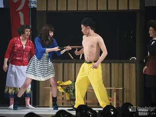 筧美和子、新喜劇デビュー 話題の「ドリルすんのかい」披露で会場沸かす