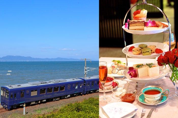 おれんじ食堂「アフタヌーンティー列車」が特別運行、青い海と極上スイーツを堪能/画像提供:水俣市役所、熊本県
