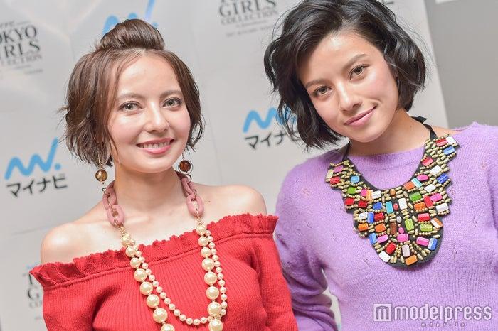 モデルプレスのインタビューに応じたベッキー&ジェシカ (C)モデルプレス