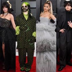 ビリー・アイリッシュ、アリアナ・グランデ、BTSら豪華集結 セレブの個性豊かなレッドカーペットファッションまとめ<第62回グラミー賞>