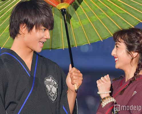 M!LK佐野勇斗&堀田茜、相合い傘で2ショットランウェイ<関コレ2018S/S>