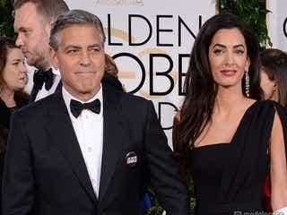 ジョージ・クルーニー夫妻、結婚後はじめてレッドカーペットに登場