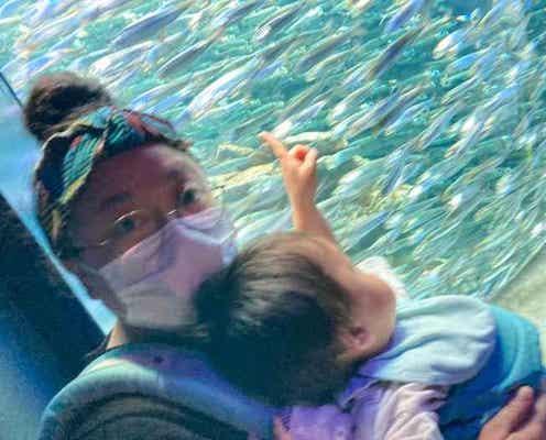 ニッチェ・江上、息子が初めての水族館で大興奮「貴重な1日になりました」