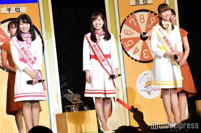(左から)佐々木彩夏、百田夏菜子、玉井詩織 (C)モデルプレス