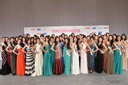 美女46人が華やか集結「2015ミス・ユニバース・ジャパン」ファイナリストお披露目