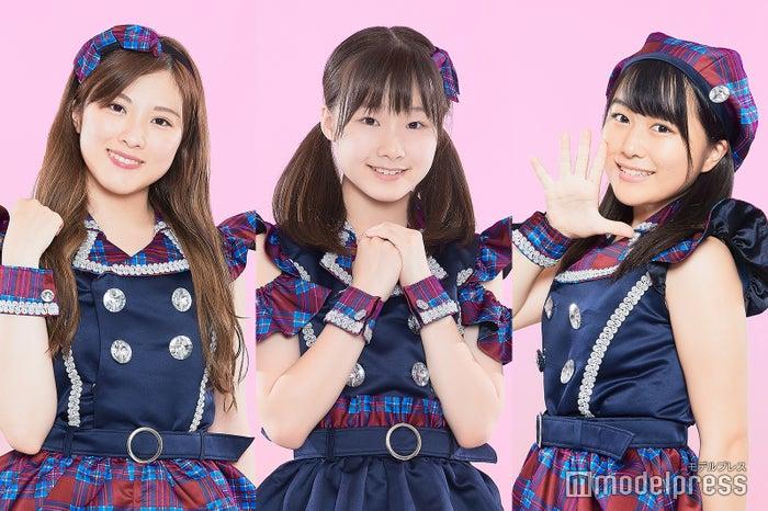 (左から)森永新菜、新倉愛海、島崎友梨亜 (C)モデルプレス