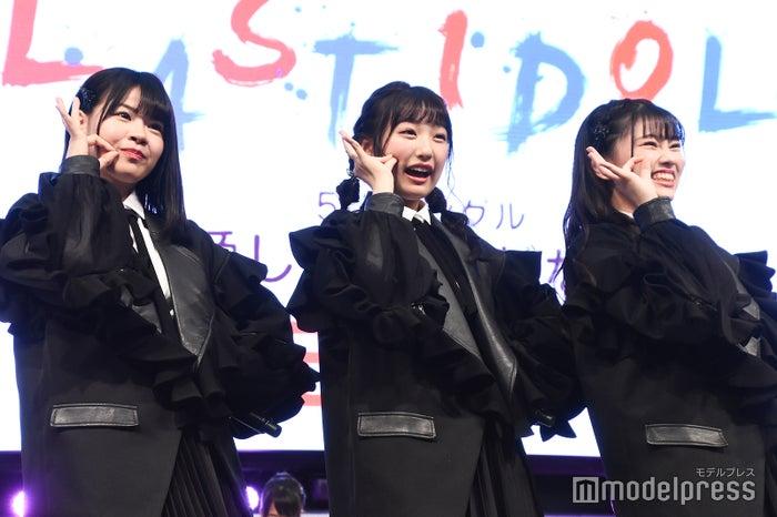 ラストアイドル2期生/ 下間花梨、町田穂花、大場結女(C)モデルプレス