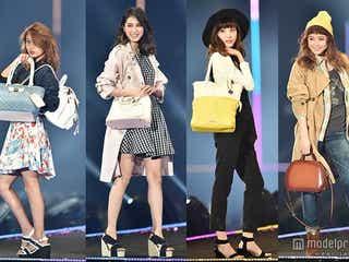 今春のバッグトレンドは?大石参月、宮城舞らが魅せるファッションに注目