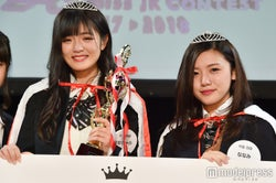 「女子高生ミスコン2017-2018」中国・四国エリア予選/左から:グランプリ・ななちゃらさん&準グランプリ・ななみさん(C)モデルプレス