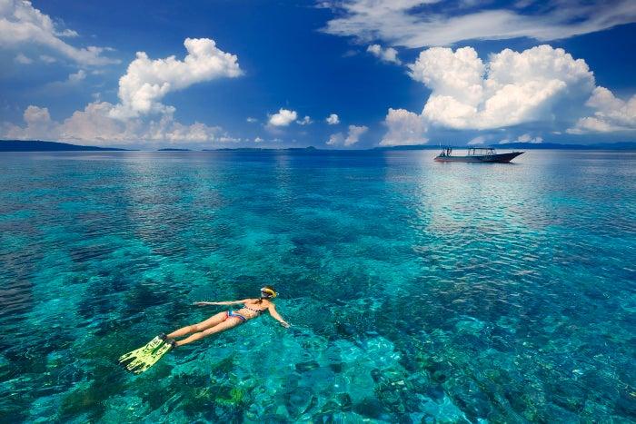 サンゴやトロピカルフィッシュがいっぱい、シュノーケルはぜひチャレンジを!(提供写真)