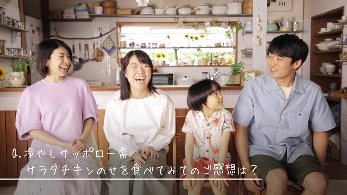 竹内結子、イモトアヤコ、寺田心、劇団ひとり/インタビュー風景 (提供画像)