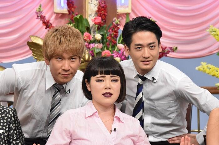 (左から)コージ、ブルゾンちえみ、ダイキ (C)日本テレビ