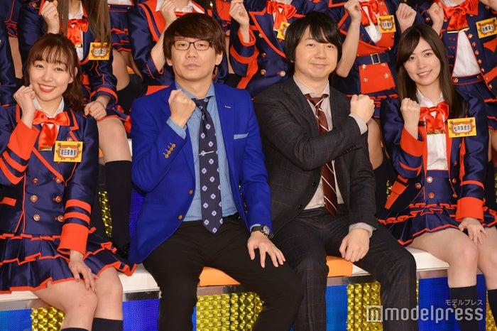 (左から)須田亜香里、小宮浩信、相田周二、松井珠理奈(C)モデルプレス