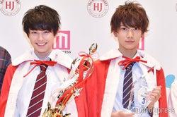 2016年グランプリの本田響矢(左)、準グランプリの那須泰斗(右)(C)モデルプレス