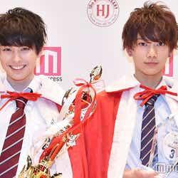(左から)本田響矢/2016グランプリ、那須泰斗/2016準グランプリ (C)モデルプレス