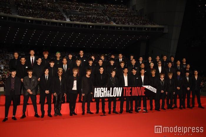 映画「HiGH&LOW THE MOVIE」舞台挨拶より(C)モデルプレス