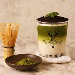 盆栽抹茶タピオカラテ/画像提供:ポトマック