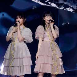 与田祐希、大園桃子「乃木坂46 9th YEAR BIRTHDAY LIVE」(提供写真)