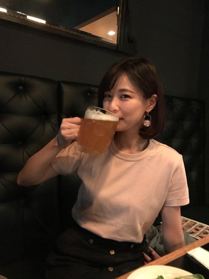 ビールが大好きです!こんなに飲めるなんて幸せなひと時です。(提供写真)