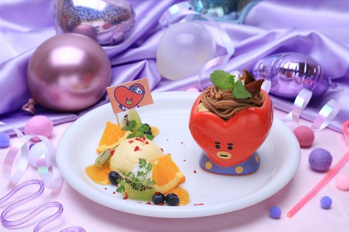 DESSERTプレートケーキ (モンブラン) 1,290円(C)BT21