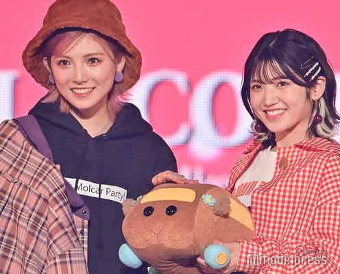 """AKB48""""ゆうなぁ""""岡田奈々&村山彩希、腕組み2ショットランウェイ 指ハートも披露<TGC2021A/W>"""