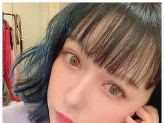 HKT48村重杏奈、IZ*ONE宮脇咲良ヘアにイメチェンで雰囲気ガラリ「咲良ペンなので髪色真似した」