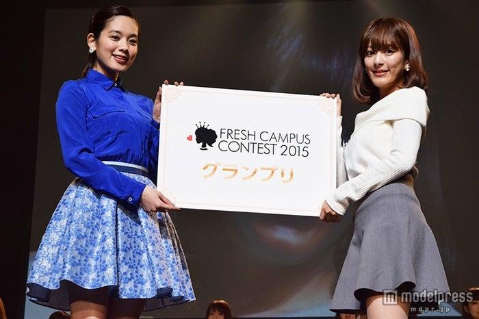 日本一の女子大新入生が決定「FRESH CAMPUS CONTEST 2015」/左より:筧美和子、春田奈々さん【モデルプレス】