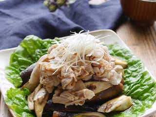 パパッと茹でるだけ。「豚しゃぶとなすのピリ辛サラダ」レシピ