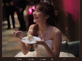 元「Popteen」モデル澤田汐音、結婚を報告 ウェディングドレス姿公開で藤田ニコル・みちょぱらも祝福