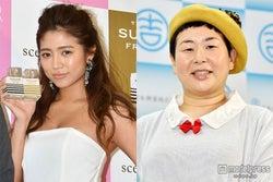 大島美幸(右)の妊娠を祝福した今井華(左)【モデルプレス】