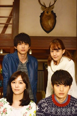 瀬戸康史(右下)、石橋杏奈(左下)、トリンドル玲奈(右上)、吉沢亮(左上)