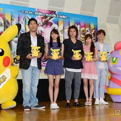 (左から)篠原信一、山本美月、藤原竜也、中川翔子、山寺宏一