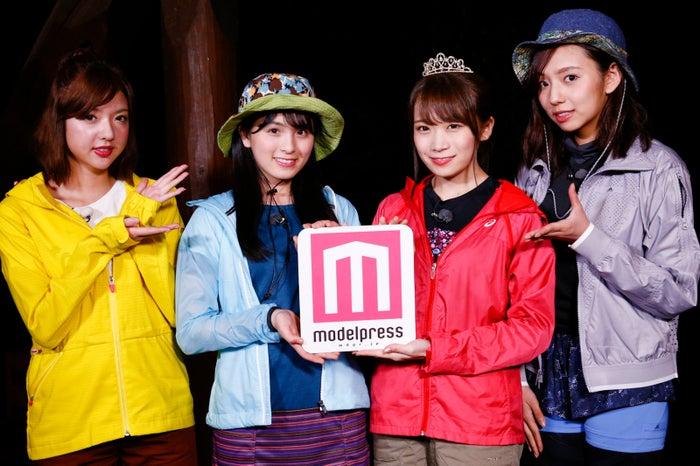 「NOGIBINGO!10 ×モデルプレス」連載企画スタート/左から:和田まあや、大園桃子、秋元真夏、新内眞衣 (C)「NOGIBINGO!10」製作委員会