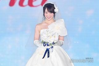 峯岸みなみ、前田敦子妊娠に笑顔 ウェディングドレスでシークレット登場<GirlsAward 2018 A/W>
